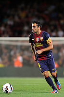 02/09/2012 - Liga Football Spain, FC Barcelona vs. Valencia CF Matchday 3 - Xavi, spanish midfield player and captain of FC Barcelona
