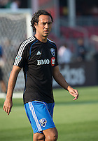 July 3, 2013: Montreal Impact defender Alessandro Nesta #14 during the warm-up in an MLS game between Toronto FC and Montreal Impact at BMO Field in Toronto, Ontario Canada.<br /> The game ended in a 3-3 draw.