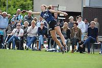KAATSEN: SINT JACOB: 19-06-2016, Dames Hoofdklasse Vrije formatie, Ilse Tuinenga, Sjoukje Visser en Wiljo Sijbrandij (slaat de bal), ©foto Martin de Jong