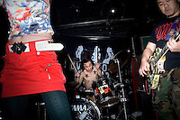 The Chinese punk band Overdose performs at Castle Bar in Nanjing, China.