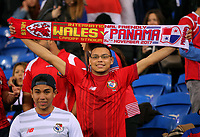 Panama supporters during the international friendly soccer match between Wales and Panama at Cardiff City Stadium, Cardiff, Wales, UK. Tuesday 14 November 2017.