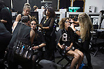 JOHANNESBURG, SOUTH AFRICA - MARCH 10: Model gets their make-up done backstage before a show at Johannesburg Fashion Week week on March 10, 2016, at Nelson Mandela Square Johannesburg, South Africa. (Photo by: Per-Anders Pettersson)