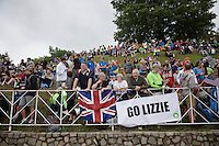 &quot;Go Lizzie!&quot; up Libby Hill<br /> <br /> Elite Women Road Race<br /> UCI Road World Championships Richmond 2015 / USA