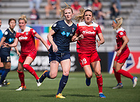 Boyds, MD - April 15, 2017: The North Carolina Courage defeated the Washington Spirit 1-0 during a National Women's Soccer League (NWSL) match at the Maryland SoccerPlex.