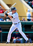 5 March 2009: Detroit Tigers' shortstop Adam Everett in action during a Spring Training game against the Washington Nationals at Joker Marchant Stadium in Lakeland, Florida. The Tigers defeated the visiting Nationals 10-2 in the Grapefruit League matchup. Mandatory Photo Credit: Ed Wolfstein Photo