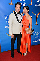 LOS ANGELES, CA. February 17, 2019: John Herrera & Guest at the 2019 Writers Guild Awards at the Beverly Hilton Hotel.<br /> Picture: Paul Smith/Featureflash