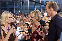 CMT's Greg &amp; Katie are joined by Carolyn Dawn Johnson at the first ever CMT Flameworthy Video Music Awards at the Gaylord Entertainment Center in Nashville Tennesee. 6/12/02<br /> Photo by Rick Diamond/PictureGroup