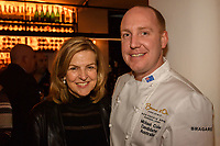 Melbourne, June 26, 2018 - Karen Inge and Michael Cole pose for a photograph at a celebration event for Bocuse d'Or Australia team and their sponsors and supporters at Philippe Restaurant in Melbourne, Australia. Photo Sydney Low.