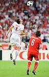 Dariusz Dudka and Rene Aufhauser at Euro 2008. Austria-Poland 06122008, Wien, Austria