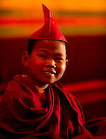 Buddhist  student monks in Sikkim India
