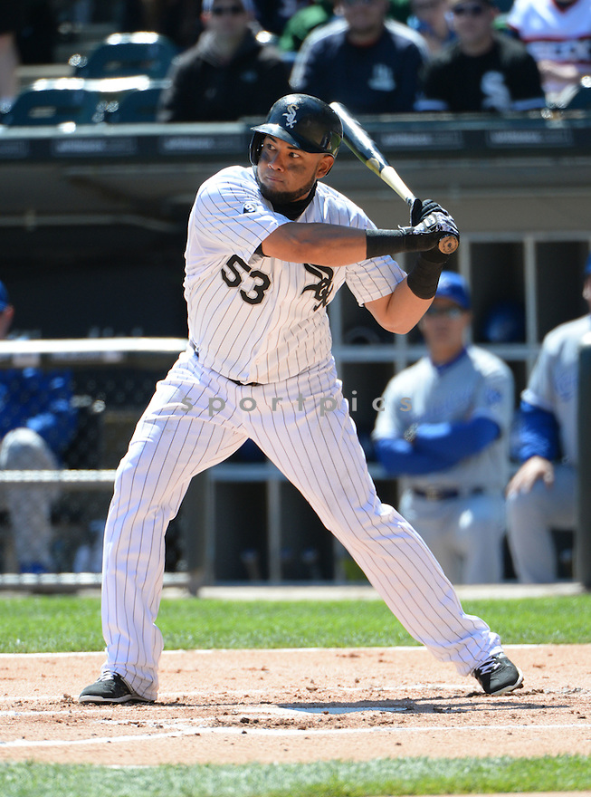 Chicago White Sox Melky Cabrera (53) during a game against the Kansas City Royals on April 26, 2015 at US Cellular Field in Chicago, IL. The White Sox beat the Royals 5-3.