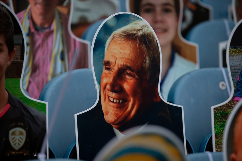 A crowdie of Norman Hunter is seen in the stands at Elland Road<br /> <br /> Photographer Alex Dodd/CameraSport<br /> <br /> The EFL Sky Bet Championship - Leeds United v Charlton Athletic - Wednesday July 22nd 2020 - Elland Road - Leeds <br /> <br /> World Copyright © 2020 CameraSport. All rights reserved. 43 Linden Ave. Countesthorpe. Leicester. England. LE8 5PG - Tel: +44 (0) 116 277 4147 - admin@camerasport.com - www.camerasport.com