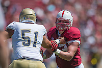 STANFORD, CA - September 30, 2014: The Stanford Cardinal vs UC Davis Aggies game at Stanford Stadium in Stanford, CA. Final score, Stanford Cardinal 45, UC Davis 0