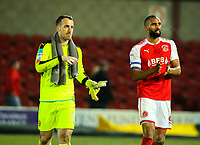 Fleetwood Town's Nathan Pond and Alex Cairns applaud the fans after the match<br /> <br /> Photographer Alex Dodd/CameraSport<br /> <br /> The EFL Sky Bet League One - Fleetwood Town v Shrewsbury Town - Tuesday 13th February 2018 - Highbury Stadium - Fleetwood<br /> <br /> World Copyright &copy; 2018 CameraSport. All rights reserved. 43 Linden Ave. Countesthorpe. Leicester. England. LE8 5PG - Tel: +44 (0) 116 277 4147 - admin@camerasport.com - www.camerasport.com