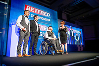 Picture by Allan McKenzie/SWpix.com - 25/09/2018 - Rugby League - Betfred Championship & League 1 Awards Dinner 2018 - The Principal Manchester- Manchester, England - League 1 CLub of the Year winners York City Knights.