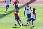 Pedro Rodriguez, Sergio Busquets and Isco Alarcon during training of the spanish national football team in the city of football of Las Rozas in Madrid, Spain. August 30, 2017. (ALTERPHOTOS/Rodrigo Jimenez)