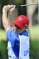 Padraig Harrington (IRL) caddy Ronan Flood during Wednesday's Pro-Am of the 2018 Turkish Airlines Open hosted by Regnum Carya Golf &amp; Spa Resort, Antalya, Turkey. 31st October 2018.<br /> Picture: Eoin Clarke | Golffile<br /> <br /> <br /> All photos usage must carry mandatory copyright credit (&copy; Golffile | Eoin Clarke)