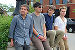 The Grizzly Bear (l-r) Daniel Rossen, 26, Edward Droste, 30, Chris Bear, 27, and Chris Taylor, 28, of Brooklyn is seen just outside the Pitchfork Music Festival at the corner of Randolph and Ogden in Chicago, Illinois on July 19, 2009.