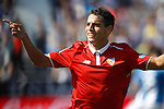 Sevilla FC's Wissam Ben Yedder celebrates goal during La Liga match. October 15,2016. (ALTERPHOTOS/Acero)