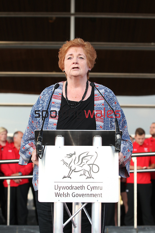 Glasgow 2014 Comonwealth Games<br /> Team Wales reception<br /> Rosemary Butler<br /> Senedd<br /> 10.09.14<br /> &copy;Steve Pope-SPORTINGWALES