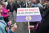 UKIP lobby of Parliament against the handover of legal powers, including the European Arrest Warrant, to the EU.  Old Palace Yard, Westminster, London.