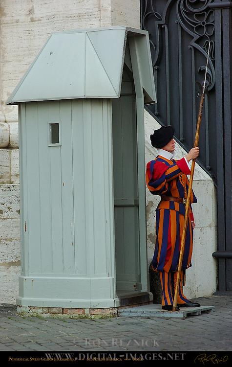 Pontifical Swiss Guard Halberdier St Peter's Basilica Rome