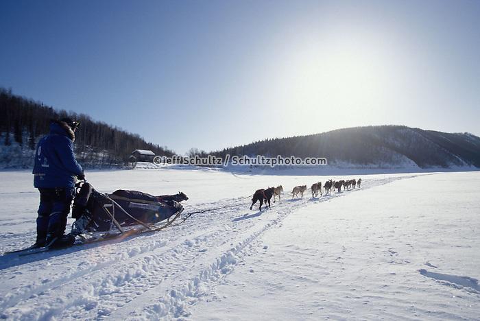 John Baker on Yukon River Near Ruby Alaska