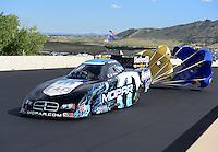 Jul, 21, 2012; Morrison, CO, USA: NHRA funny car driver Matt Hagan during qualifying for the Mile High Nationals at Bandimere Speedway. Mandatory Credit: Mark J. Rebilas-US PRESSWIRE