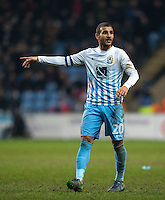 Marcus Tudgay of Coventry City during the The Checkatrade Trophy - EFL Trophy Semi Final match between Coventry City and Wycombe Wanderers at the Ricoh Arena, Coventry, England on 7 February 2017. Photo by Andy Rowland.