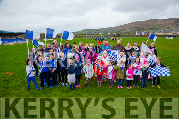 Flags and Jerseys at the ready for these St Mary's Fans who are looking forward to the trip to Croke Park on Saturday for the All Ireland Intermediate Final.
