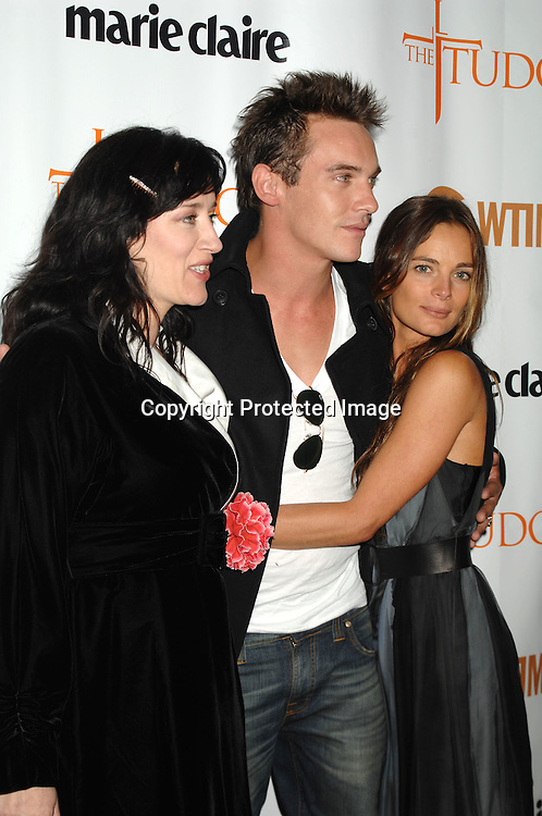 "Maria Doyle Kennedy, Jonathan Rhys Meyers and Gabrielle Anwar..at The Showtime and Marie Claire New York Premiere of ""The Tudors"" at The Hearst Tower. The Show premieres on Showtime on April 1, 2007...Robin Platzer, Twin Images"