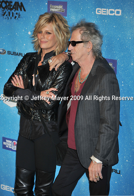 LOS ANGELES, CA. - October 17: Patti Hansen (L) and musician Keith Richards  arrive at Spike TV's Scream 2009 held at the Greek Theatre on October 17, 2009 in Los Angeles, California.