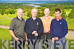 Killorglin Golf Club President Jimmy Doona, second from left, pipctured with John carmody, Matt Keane and Noel Purcell during his presidents prize day at the club on Sunday.