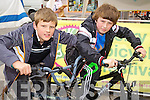 Harry Dudley and Eoin Lynch at Kerry Bicycle Festival at the Square, Tralee on Saturday.