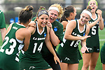 TAMPA, FL - MAY 20: Bryanna Fazio #14 of the Le Moyne Dolphins celebrates after being named Most Outstanding Player during the Division II Women's Lacrosse Championship held at the Naimoli Family Athletic and Intramural Complex on the University of Tampa campus on May 20, 2018 in Tampa, Florida. Le Moyne defeated Florida Southern 16-11 for the national title. (Photo by Jamie Schwaberow/NCAA Photos via Getty Images)