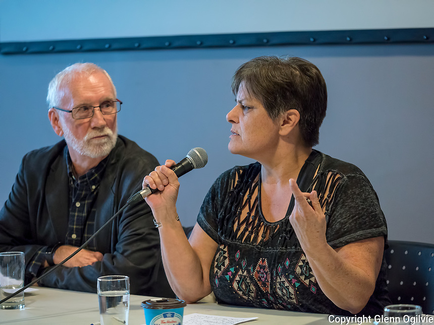 A toxic tour of the Chemical Valley with the Aamjiwnaang was followed by a panel discussion, held at the community centre.