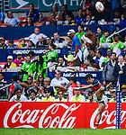Tonga vs Hong Kong on Day 2 of the 2012 Cathay Pacific / HSBC Hong Kong Sevens at the Hong Kong Stadium in Hong Kong, China on 24th March 2012. Photo © Victor Fraile / PSI for Coca Cola