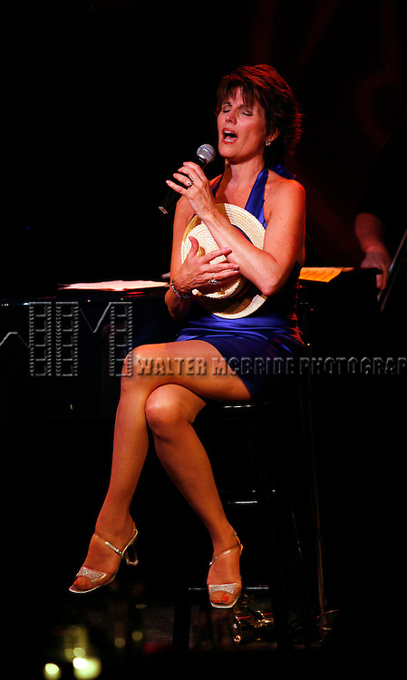 *** EXCLUSIVE COVERAGE***.LuLu's Back in Town !  Lucie Arnaz performs on her Birthday at Birdland with Musical Director Ron Abel with special guests Katharine Luckinbill & Joe Luckinbill..July 17, 2008.© Walter McBride /