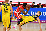 Retin OBASOHAN (BA),<br /> Jacob HOLLATZ (OL),<br /> Aktion,Zweikampf.<br /> <br /> Basketball 1.Bundesliga,BBL, nph0001-Finalturnier 2020.<br /> Viertelfinale am 18.06.2020.<br /> BROSE BAMBERG-EWE BASKETS OLDENBURG,<br /> Audi Dome<br /> <br /> Foto:Frank Hoermann / SVEN SIMON / /Pool/nordphoto<br /> <br /> National and international News-Agencies OUT - Editorial Use ONLY