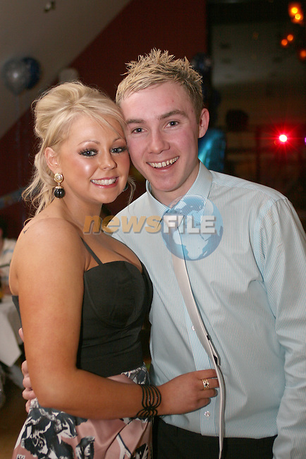 Kevin Walsh with his girlfriend Stacey Hill at his 21st in The Thatch...Photo NEWSFILE/Jenny Matthews.(Photo credit should read Jenny Matthews/NEWSFILE)....This Picture has been sent you under the condtions enclosed by:.Newsfile Ltd..The Studio,.Millmount Abbey,.Drogheda,.Co Meath..Ireland..Tel: +353(0)41-9871240.Fax: +353(0)41-9871260.GSM: +353(0)86-2500958.email: pictures@newsfile.ie.www.newsfile.ie.FTP: 193.120.102.198.