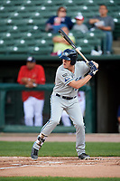West Michigan Whitecaps third baseman Josh Lester (32) at bat during a game against the Peoria Chiefs on May 8, 2017 at Dozer Park in Peoria, Illinois.  West Michigan defeated Peoria 7-2.  (Mike Janes/Four Seam Images)