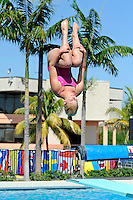 5 November 2011:  FIU's Sabrina Beaupre competes in the 1 meter diving as the FIU Golden Panthers won the meet with the Florida Atlantic University Owls and Florida Southern Moccasins at the Biscayne Bay Campus Aquatics Center in Miami, Florida.