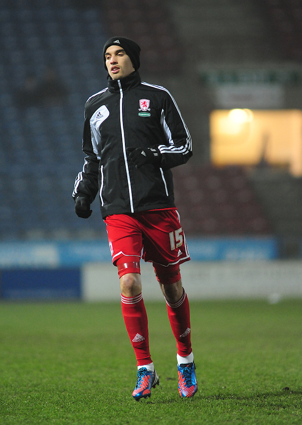 Middlesbrough's Sebastian Hines ..Football - npower Football League Championship - Huddersfield Town v Middlesbrough - Tuesday 05th March 2013 - John Smith's Stadium - Huddersfield..© CameraSport - 43 Linden Ave. Countesthorpe. Leicester. England. LE8 5PG - Tel: +44 (0) 116 277 4147 - admin@camerasport.com - www.camerasport.com