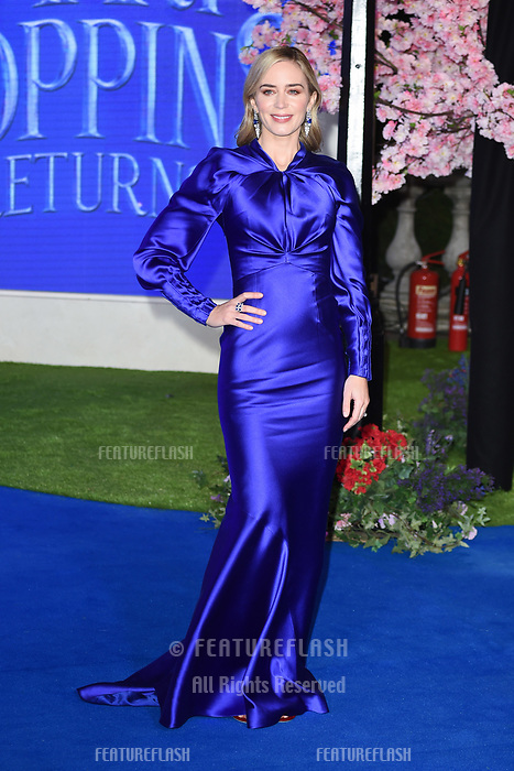 "LONDON, UK. December 12, 2018: Emily Blunt at the UK premiere of ""Mary Poppins Returns"" at the Royal Albert Hall, London.<br /> Picture: Steve Vas/Featureflash"