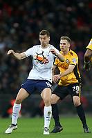 Fernando Llorente of Tottenham Hotspur and Mickey Demetriou of Newport County during Tottenham Hotspur vs Newport County, Emirates FA Cup Football at Wembley Stadium on 7th February 2018