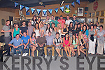 21ST BIRTHDAY: PJ Dalton, Ballyduff (seated centre) having a great time celebrating his 21st birthday with a very large group of family and friends at the Hopper Inn, Causeway on Saturday.