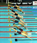 19.08.2014, Velodrom, Berlin, GER, Berlin, Schwimm-EM 2014, im Bild Start, 100m Breaststroke - Men<br /> <br />               <br /> Foto &copy; nordphoto /  Engler