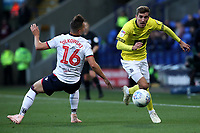 Bolton Wanderers' Pawel Olkowski and Blackburn Rovers' Joe Rothwell<br /> <br /> Photographer Rachel Holborn/CameraSport<br /> <br /> The EFL Sky Bet Championship - Bolton Wanderers v Blackburn Rovers - Saturday 6th October 2018 - University of Bolton Stadium - Bolton<br /> <br /> World Copyright &copy; 2018 CameraSport. All rights reserved. 43 Linden Ave. Countesthorpe. Leicester. England. LE8 5PG - Tel: +44 (0) 116 277 4147 - admin@camerasport.com - www.camerasport.com