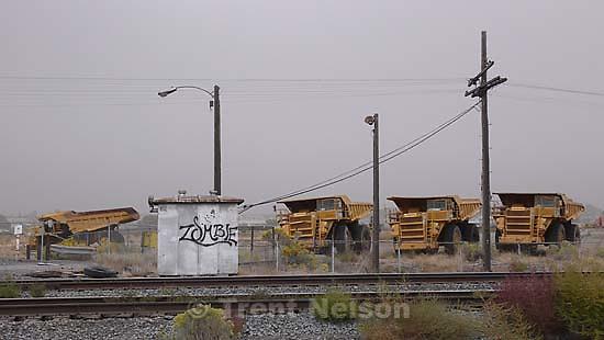 trucks and zombie graffiti
