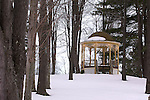 Gazebo in winter,  Eagles Mere, Pennsylvania